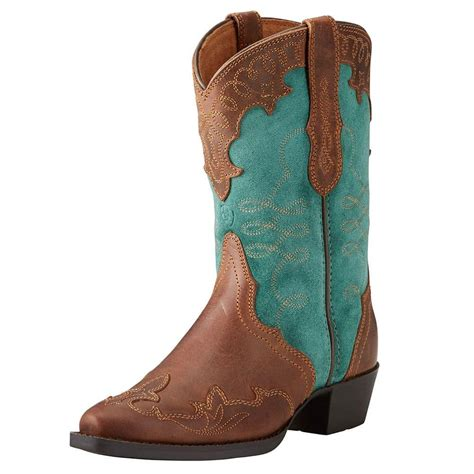 d d outfitters ariat s brown and teal zealous