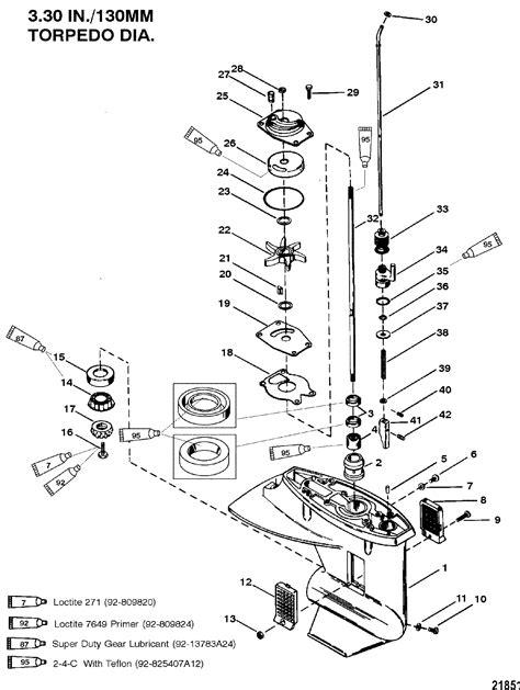 Mercury 25 EL s/n 0G445332 now do you drop gear housing to