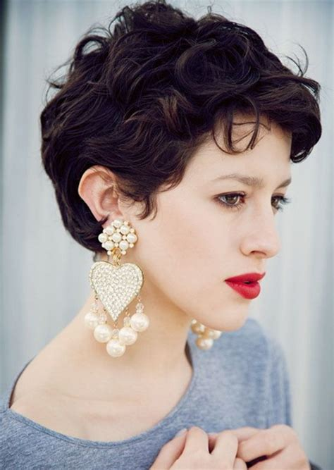 short haircuts curly thick hair short curly hairstyles for women 2016