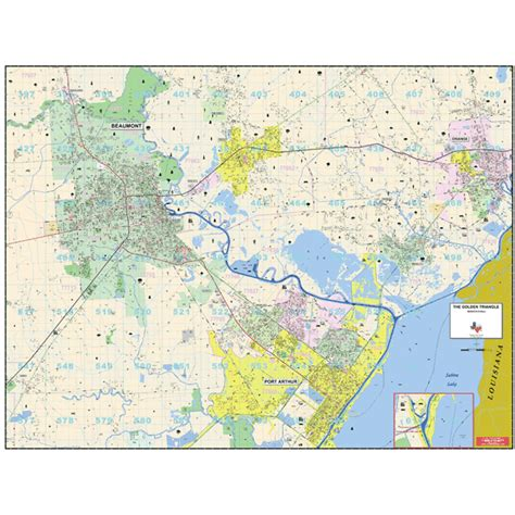 golden texas map city roll maps golden triangle tx wall map