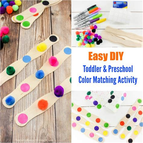 color activities for toddlers easy to make diy color activity for preschool toddlers