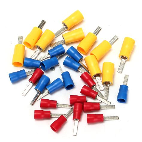 flat blade crimp terminal insulated electrical connector