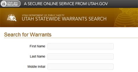Utah Warrants Search Criminal Records Instant Background Checks Obtain