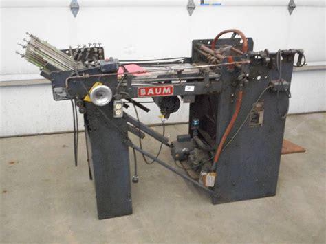 Paper Folding Machine 11x17 - loretto equipment 266 in loretto minnesota by loretto