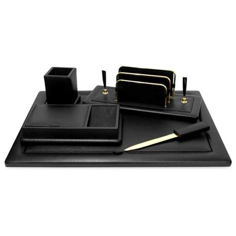 leather desk mat australia renzo black leather desk set with gold accents 5pce