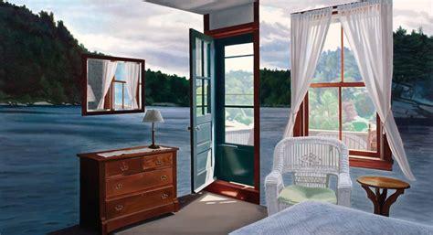 jennifer presant retreat surrealism landscape painting