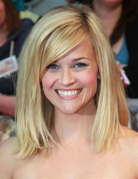 hairstyles for blonde hair medium length reese witherspoon medium length hairstyle blonde hair