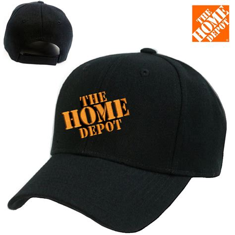 home depot logo stitched embroidered baseball cap black