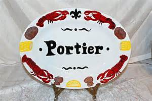 painted platters personalized items similar to painted personalized crawfish platter with fleur de lis on etsy