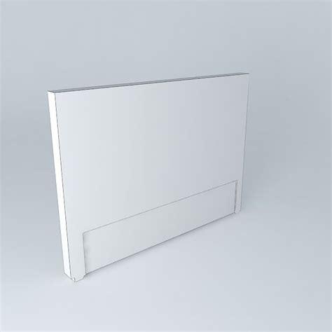 silver padded headboard silver headboard 3d model max obj 3ds fbx stl skp