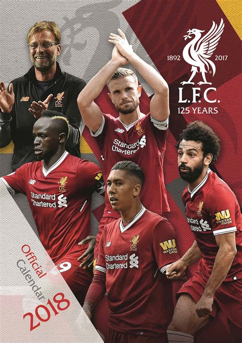 Search Free Uk Liverpool Fc A3 Calendar 2018 Calendar Club Uk