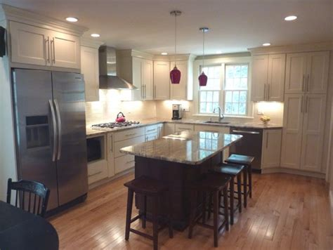 eat in island kitchen large bright eat in kitchen photo from our portfolio custom contracting inc