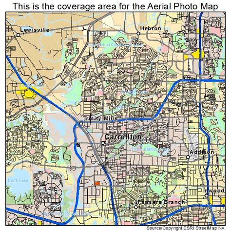 map of carrollton texas aerial photography map of carrollton tx texas