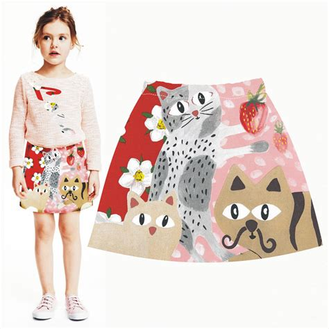 aliexpress buy children skirts new bird printed