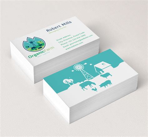 farmers business card templates organic farm logo business card template the design