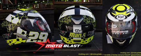 Helm Kyt Lawas special edition modif striping kawasaki 250r fi decal fullbody helmet vendetta 2
