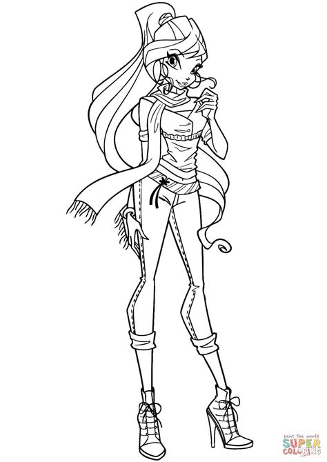 winx coloring pages winx bloom coloring page free printable coloring pages