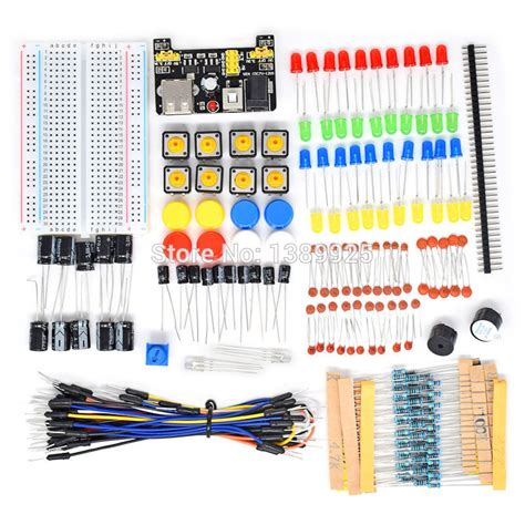breadboard resistor kit aliexpress buy starter kit for ar du ino resistor electronic fans kits breadboard cable