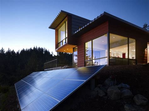sustainable houses home with solar panels homesfeed