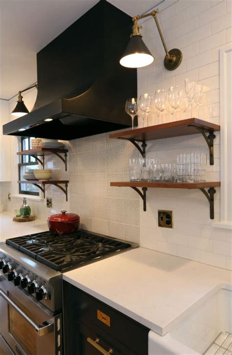 open shelving under cabinets kitchen pinterest open modern kitchen open shelving white subway tile