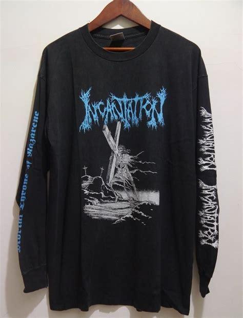 Metal 97 Tshirt vintage 90s incantation american tour 94 metal sleeve t shirt deathmetal