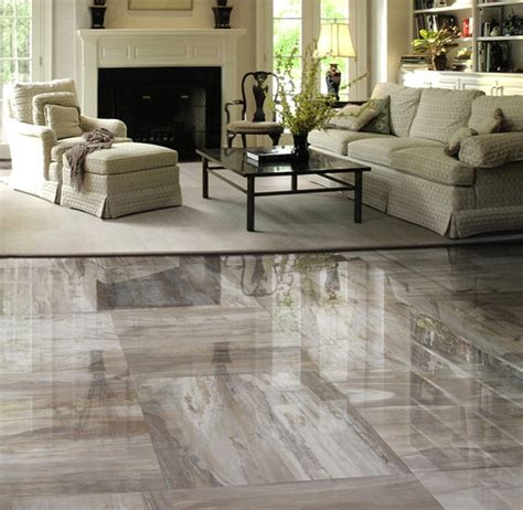 Tile Flooring Living Room Mystere Porcelain Tile Contemporary Living Room Detroit By Cercan Tile