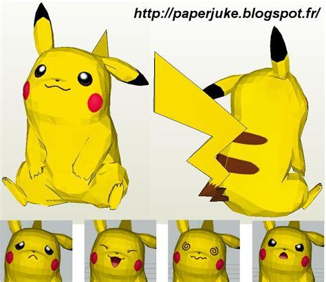 Pikachu Papercraft - size papercraft pikachu retrohelix
