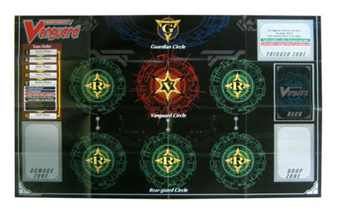Card Fight Vanguard Playmat Template by Cardfight Vanguard Replacement Trial Deck Paper Playmat