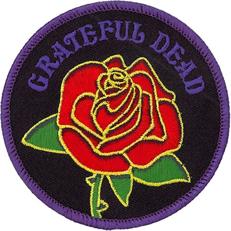 Patchwork Patches - grateful dead gd and logo patch liquid blue