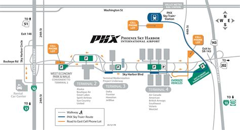 phx airport map sky harbor map my