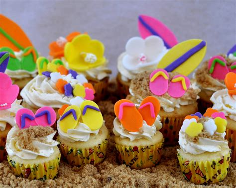 themed cupcake decorations hawaiian theme cupcakes ideas decorating of