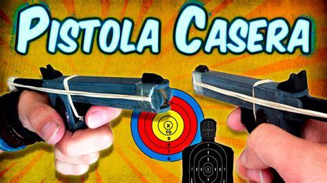 pistola en material reciclable como hacer una mini pistola casera usando palitos de