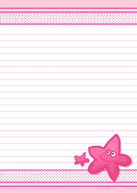 pretty letter writing paper 6 best images of pretty letter templates free printable