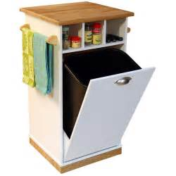 kitchen island trash bin venture horizon bedford kitchen island with trash