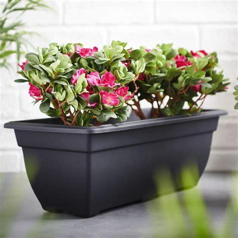 wilko black trough bell planter cm wilko