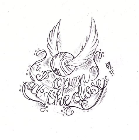 golden tattoo golden snitch sketch by nevermore ink deviantart