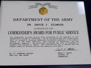 president gilmour s public service prompts prestigious