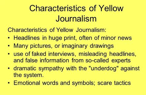 Journalism Definition by Fornology Yellow Journalism Decay And The