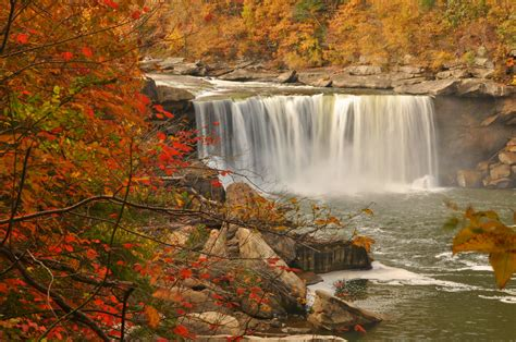 cumberland falls autumn reflections mike loveridge