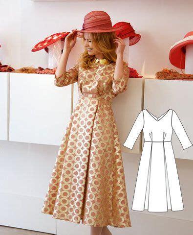 download pattern burda free patterns to download calf length dress medium