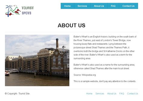 About Us Section Of Website Exles by Creating About Us Page For Tourist Spots Website In Zurb Foundation