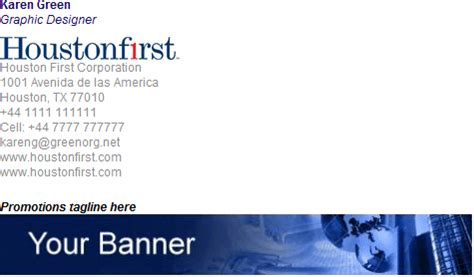 email banner template email signature templates mobile email signatures