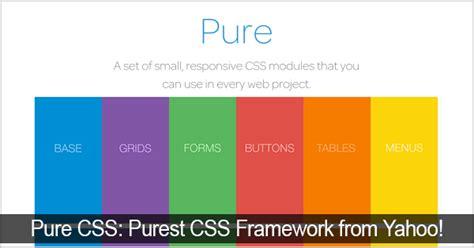 yahoo pure layout 8 css framework terpopuler webhozz blog