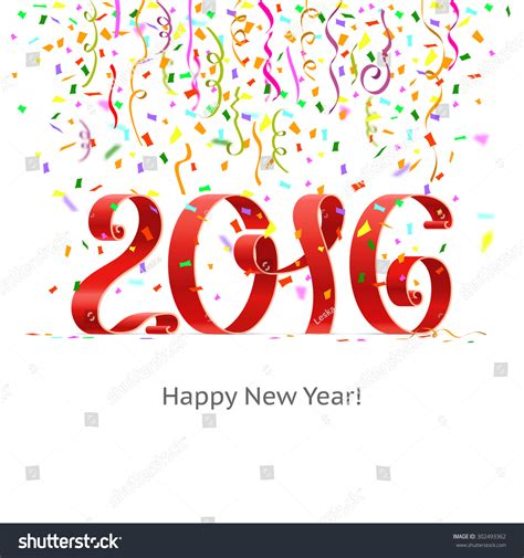 new year 2016 white background happy new year 2016 ribbon on white background with