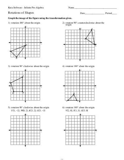 Rotations Worksheet 8th Grade by Rotation Worksheets Worksheets Releaseboard Free