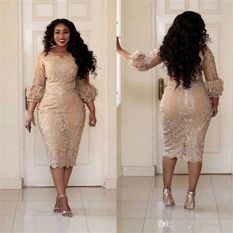 2017 Sexy Plus Size Cocktail Dresses Jewel Neck Applique 3