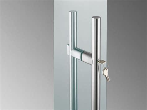 glass door pull handle sadev stainless steel