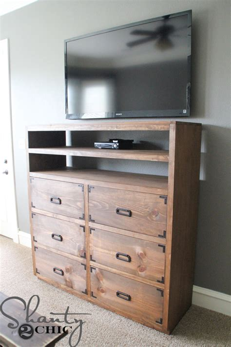 diy media cabinet diy media storage dresser shanty 2 chic