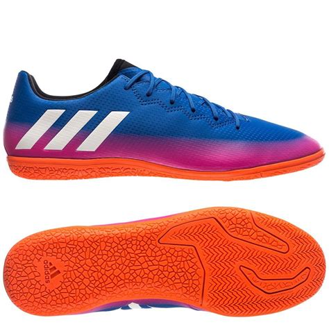 adidas   messi  indoor soccer shoes blue pink