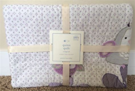 pottery barn free ship pottery barn quinn toddler quilt new free ship owl